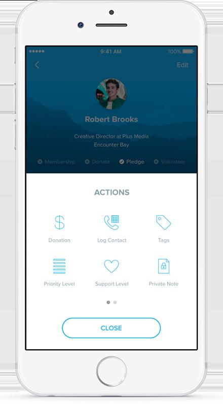 NationBuilder app: FieldEdge on iPhone 5